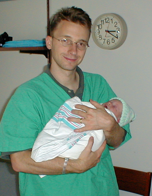 Daddy with Baby Gavin