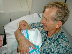 Pop and Gavin at hospital