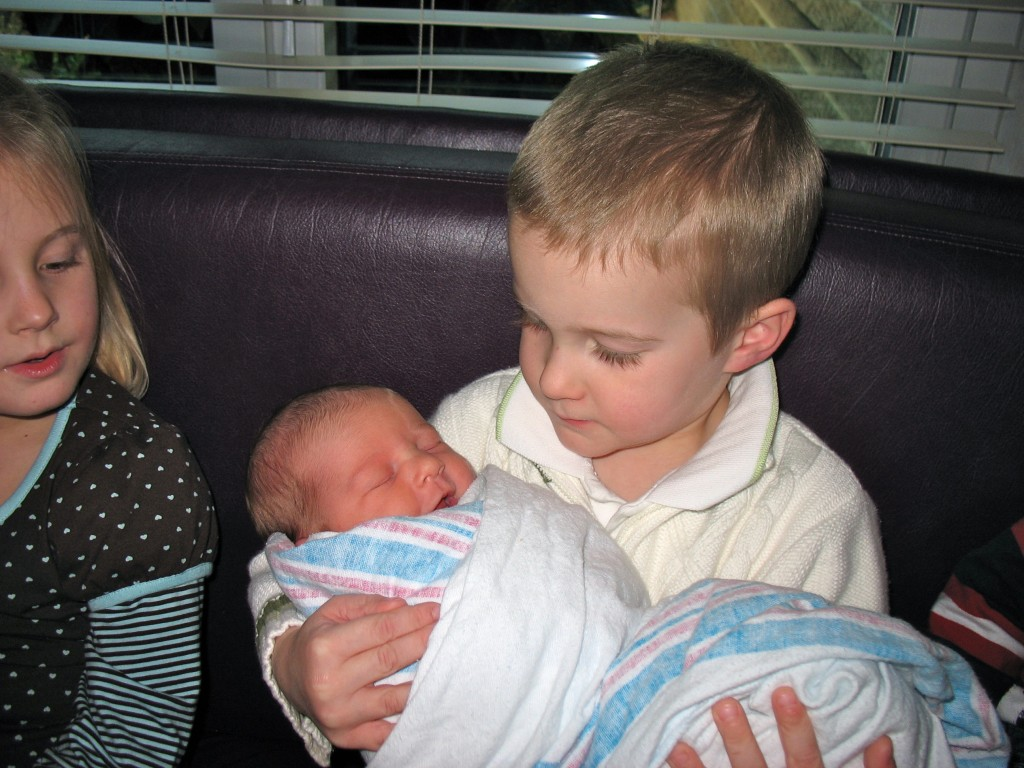 Luke and Baby Kin