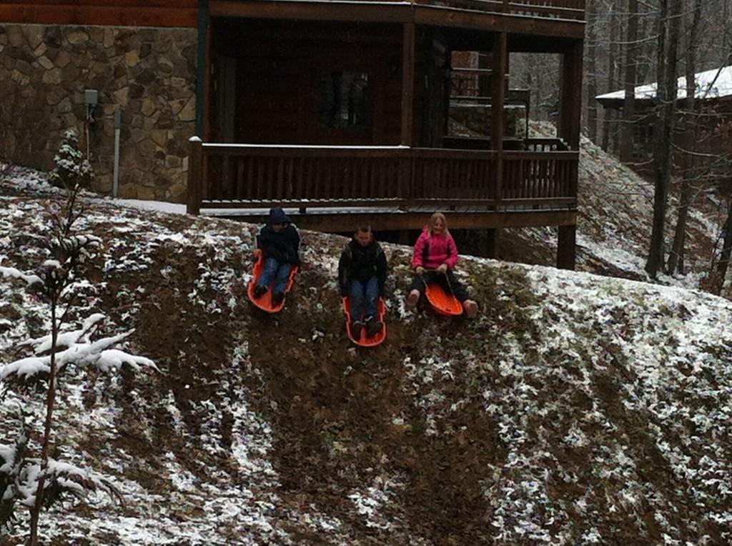 Mud sledding