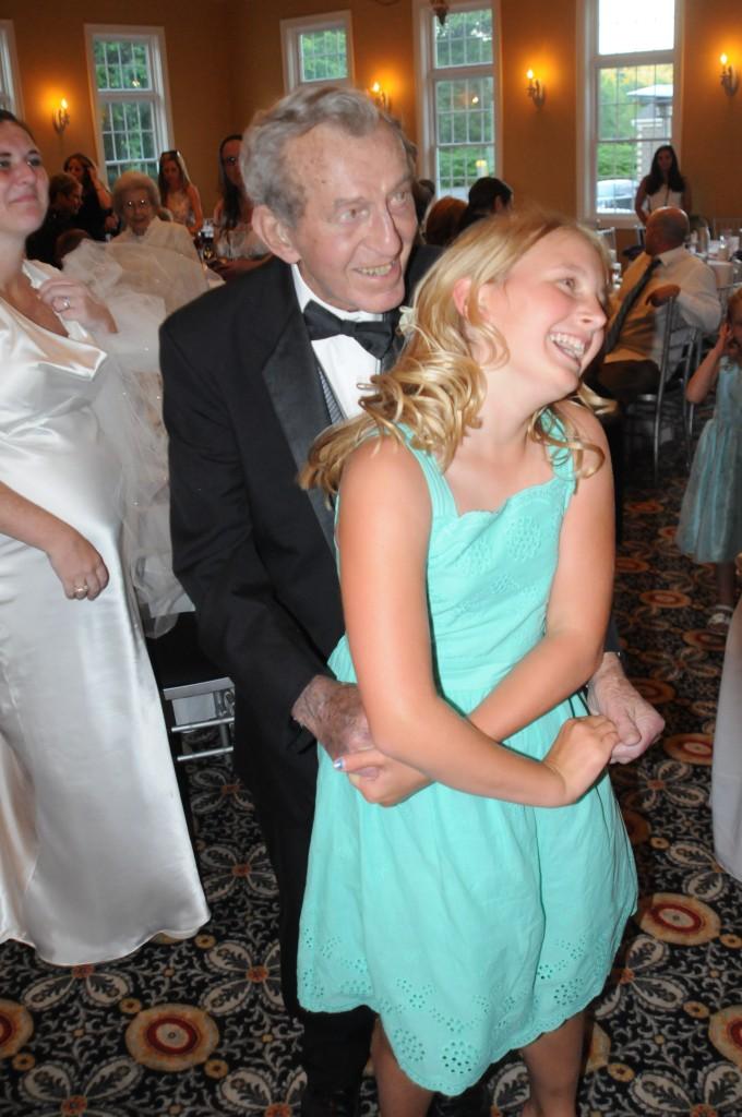 Pop and Keag dancing